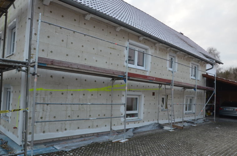 Bauunternehmen Stix, Fürstenfeldbruck - Isolierung an einem Rohbau